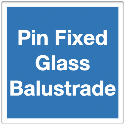 pin fixed standoff balustrade