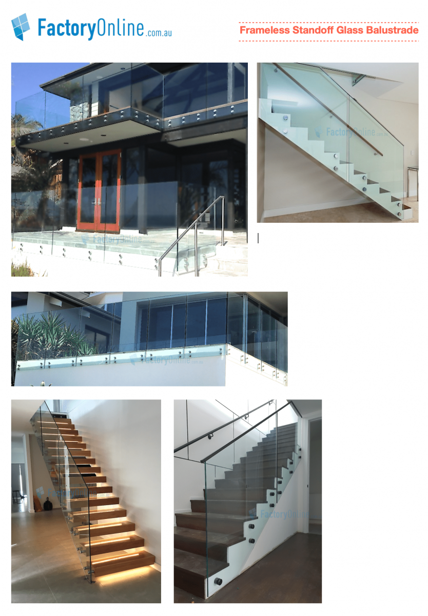 Standoff Glass Balustrade Face Mount Pin Fixed